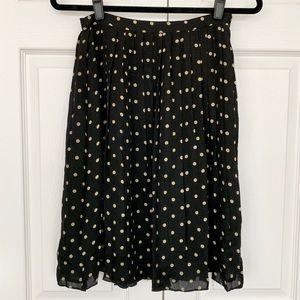 Kate Hill Skirts - Kate Hill Petites 100% Silk Pleated Skirt